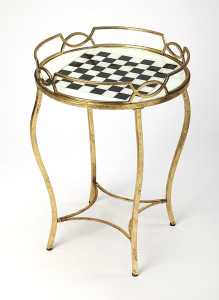 Judith Antique Gold Game Table