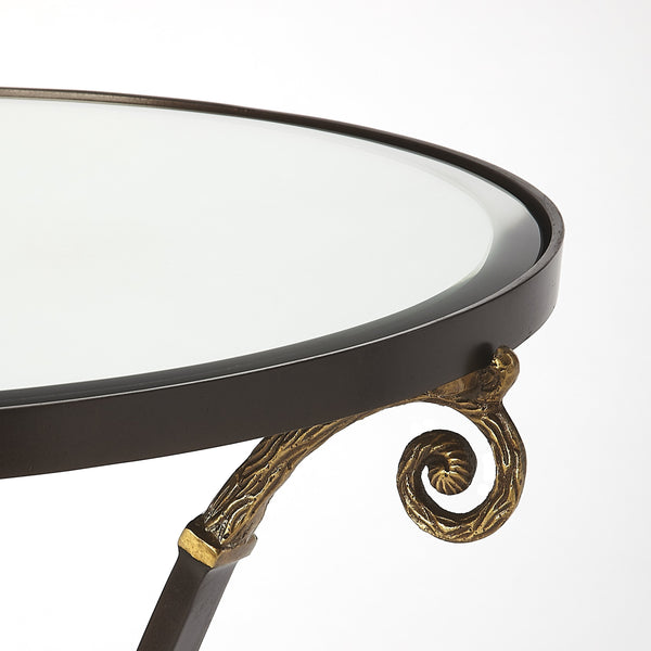 Meurice Glass & Metal Accent Table