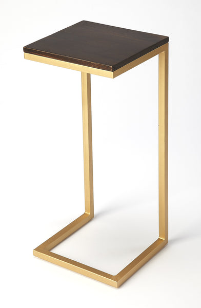 Kilmer Wood & Metal Accent Table