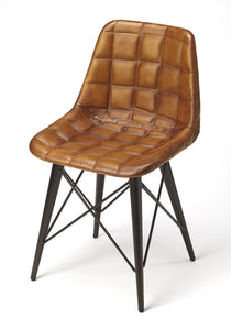 Patty Brown Leather Side Chair