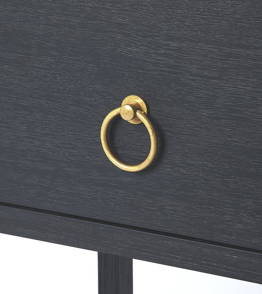 Lark Navy Blue End Table 21x26