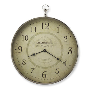 Le Blanc Nickel Finish Wall Clock