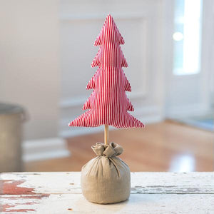 Red Striped Stuffed Tree