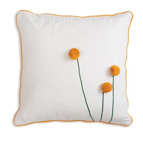 Sun Ball Flower Cotton Throw Pillow