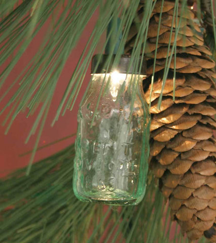 Glass Mini Mason Jar Ornament - Box of 6