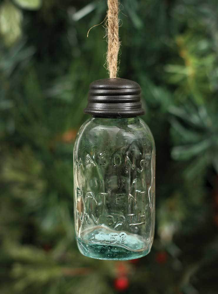 3.5 Inch Hanging Mason Jar Ornament - Box of 4