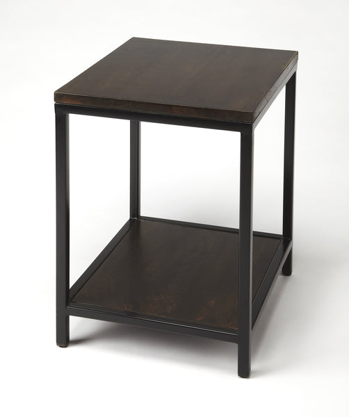 Landry Wood & Metal End Table