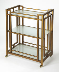 Juilliard Gold Metal Bar Cart