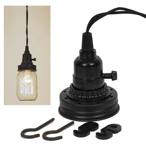Mason Jar Pendant Lamp Kit