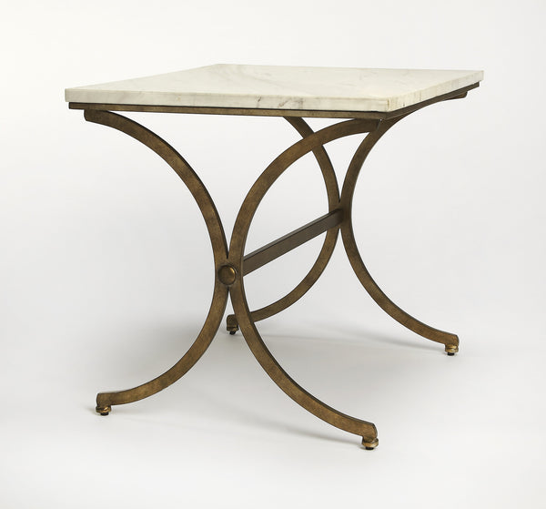 Pamina Travertine Accent Table
