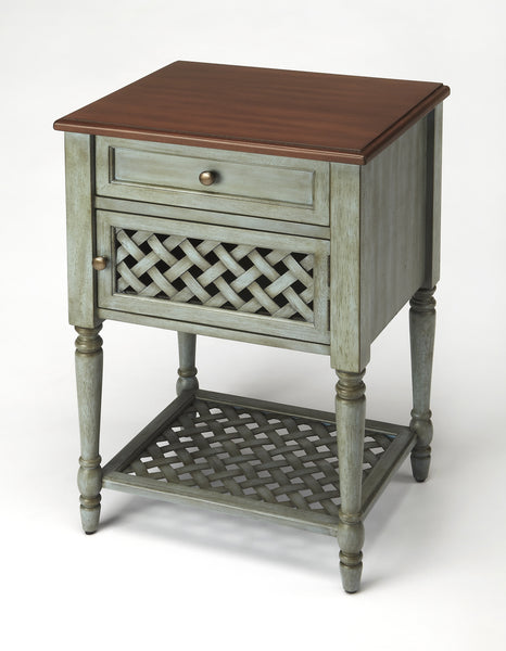 Chadway Rustic Blue Nightstand