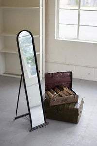 Floor Mirror With Metal Frame & Stand