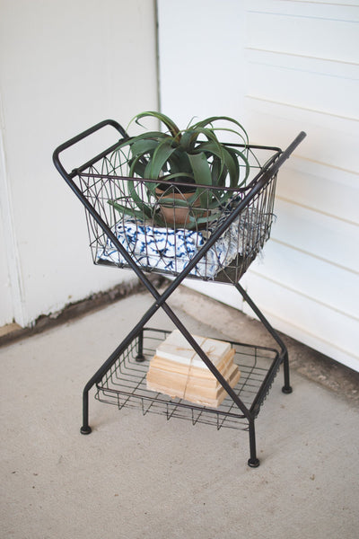 Metal Basket With Stand