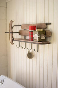 Wood & Iron Sleigh Shelf