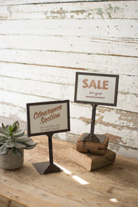 Set of 2 Metal Pricing Displays