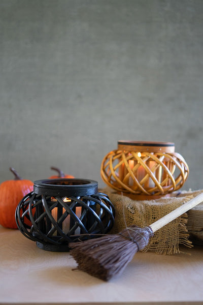 Small Willow Halloween Lantern - Orange