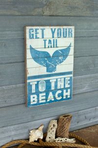 To The Beach Printed On Wood