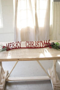Set of 2 Table Top Or Mantle Merry Christmas