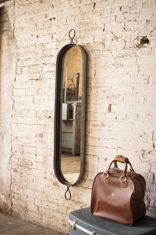 Tall Oval Wall Mirror