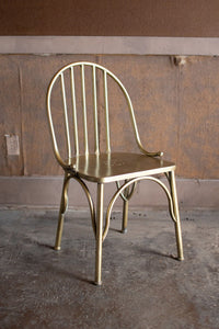 Antique Brass Finish Metal Chair