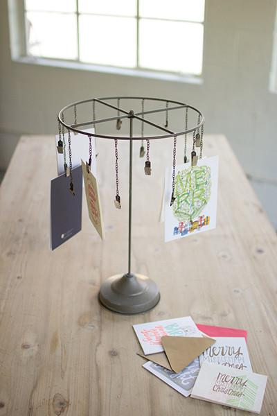 Hanging Christmas Card Holder - Raw Metal