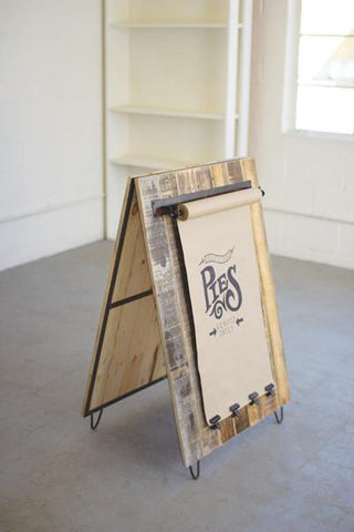 Recycled Wood Sandwich Board
