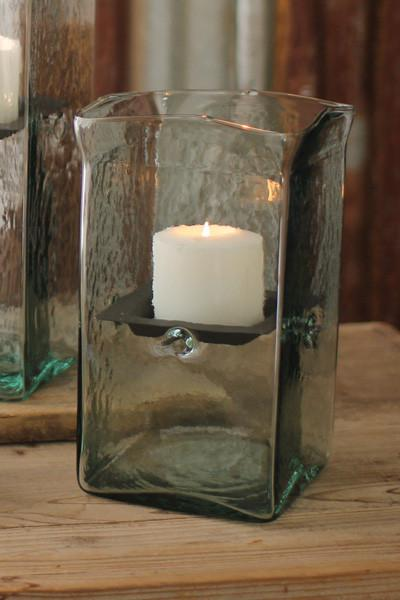 Square Candle Hurricane - Small 6x6x11