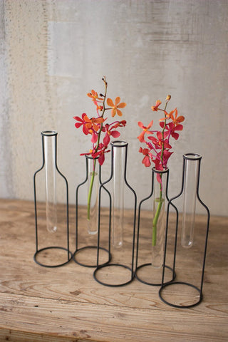 5 Wire Bottle Bud Vases