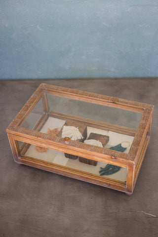 Wood & Glass Display Case - 19x11.75x8.75T