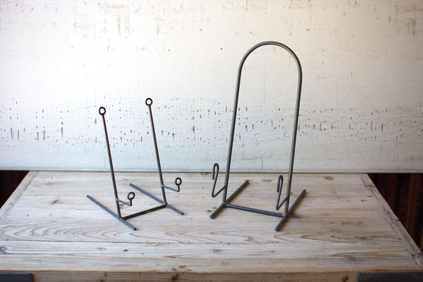 Set Of 4 Heavy Iron Plate Stands