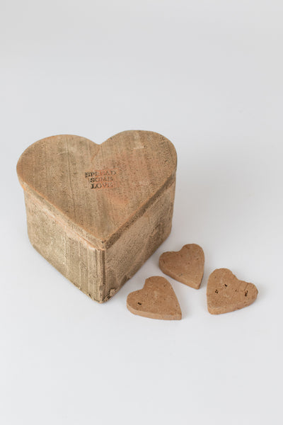 Bag Of 48 Clay Hearts