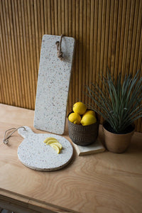 Terrazzo Cutting Board - Round With Hole