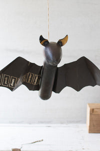 Recycled Metal Hanging Bat