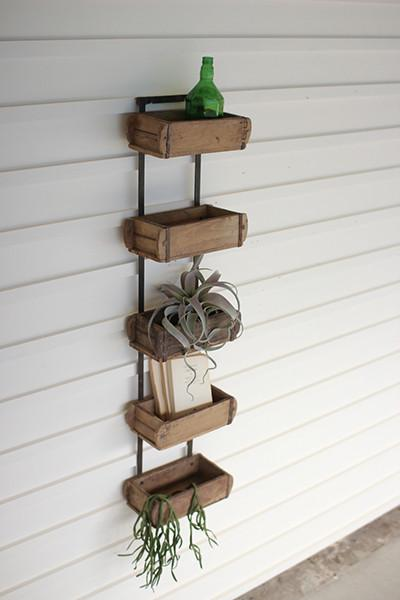 Five Brick Mold Wall Rack