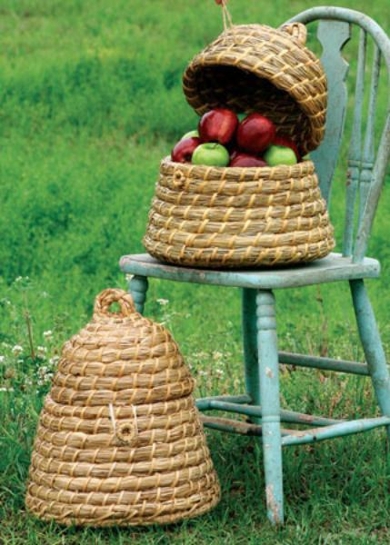 Set Of 2 Bee Skep Baskets
