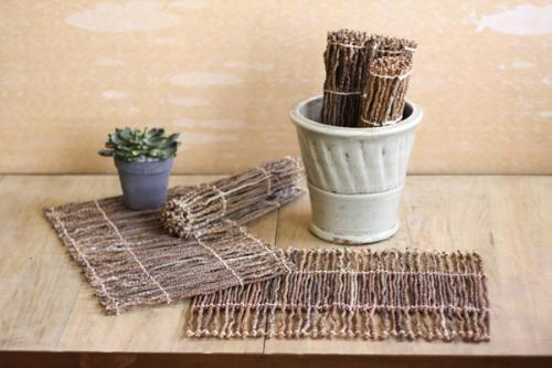 Set Of 6 Coco Twig Placemats