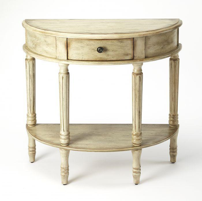 Mozart Chateau Gray Demilune Console Table
