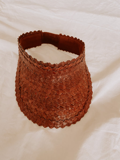 Rattan Sun Visor in Clay