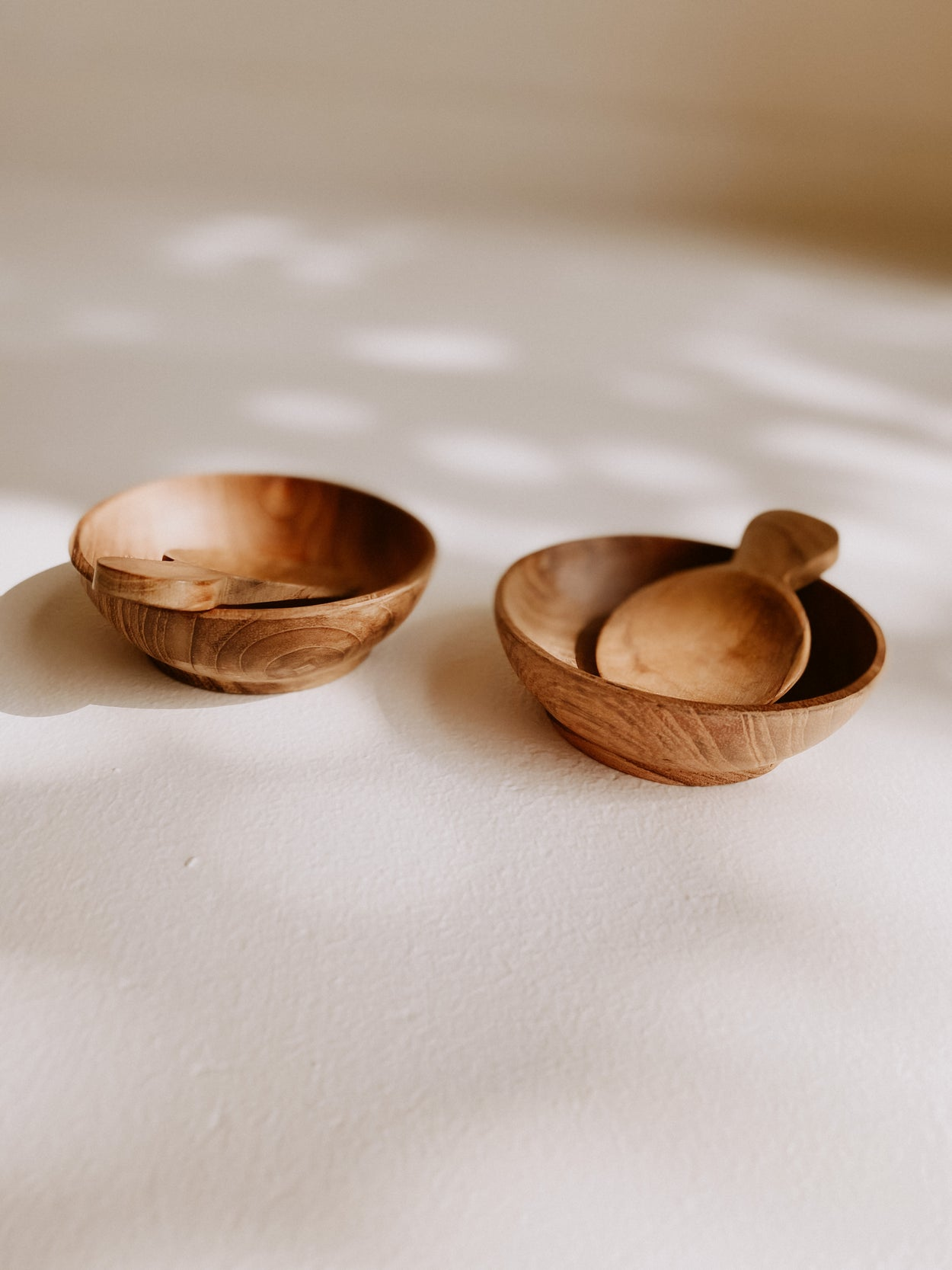 Teak Spice Bowl Set