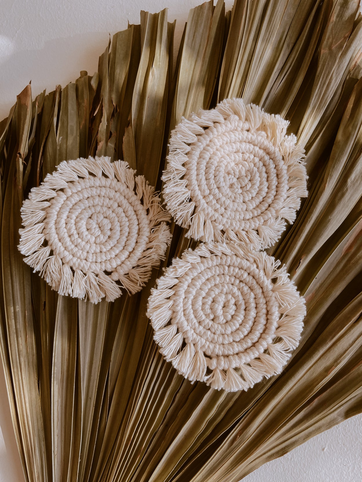 Kera Natural Macrame Coasters