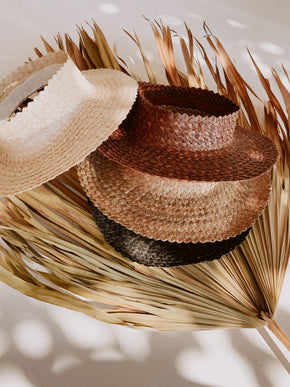 Holiday Papale Sun Hat in Black