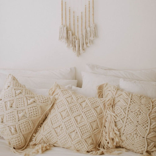 Macrame Throw Pillow
