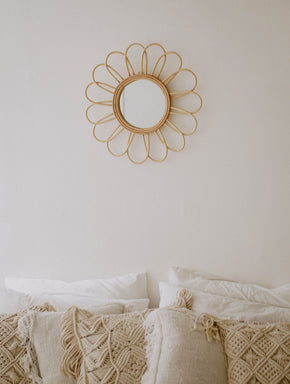 Bloom Rattan Mirror