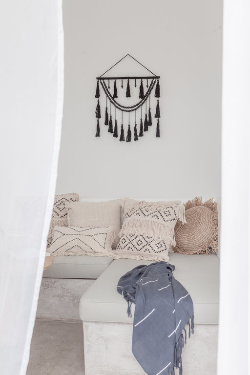Ulu Tassel Wall Hanging in Black