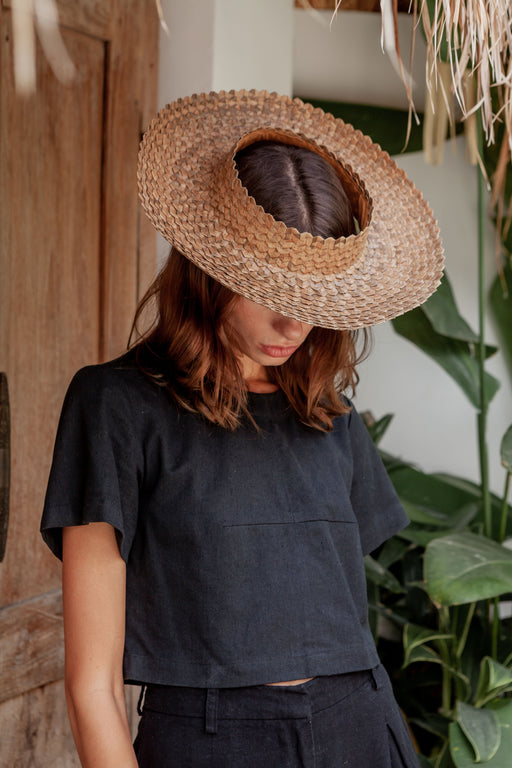 Holiday Papale Sun Hat in Amber