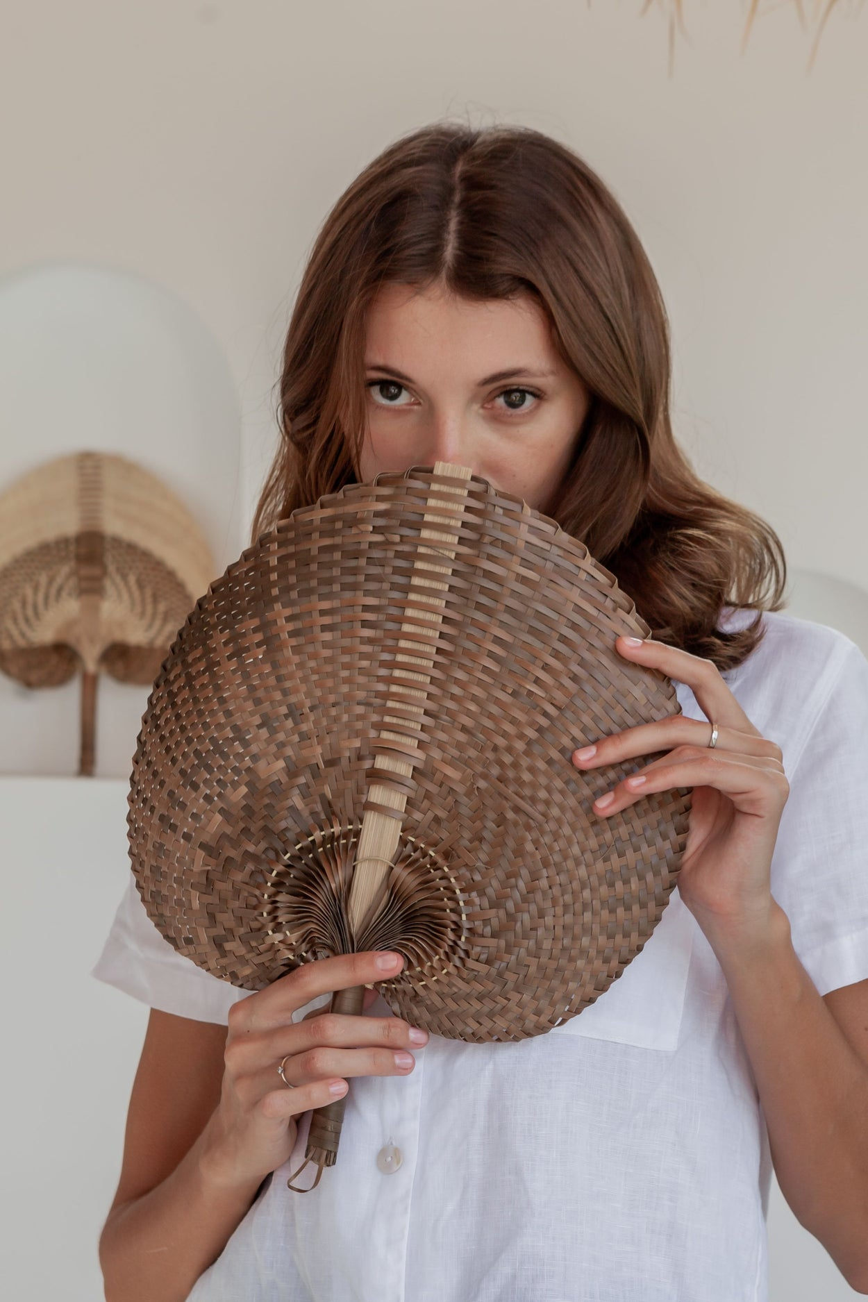 Woven Paradisio Fan in Amber