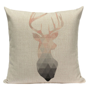 Geometric Deer Throw Pillow Case World Of Nordic