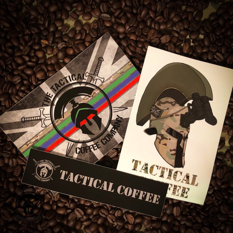 Sticker Collection - Tactical Coffee, veteran Coffee, military coffee,