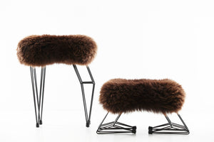 Baa Stool and Foot Stool