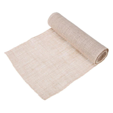 Natural Burlap Jute Linen Table Runner